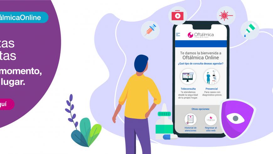 Oftálmica Online: Agenda citas oftalmológicas desde tu smartphone o computadora