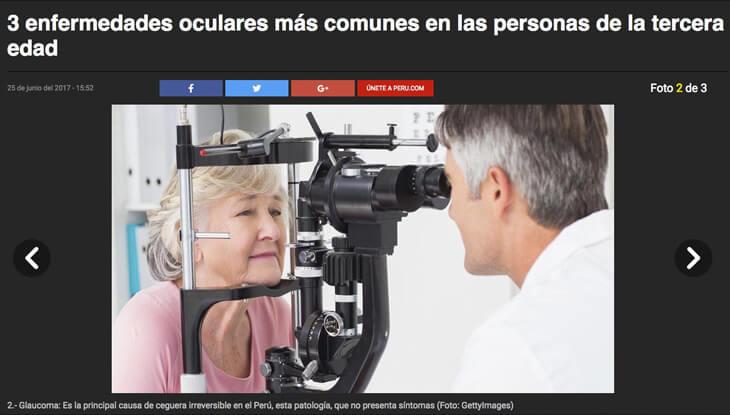 Conversamos con Peru.com sobre enfermedades oculares en adultos mayores