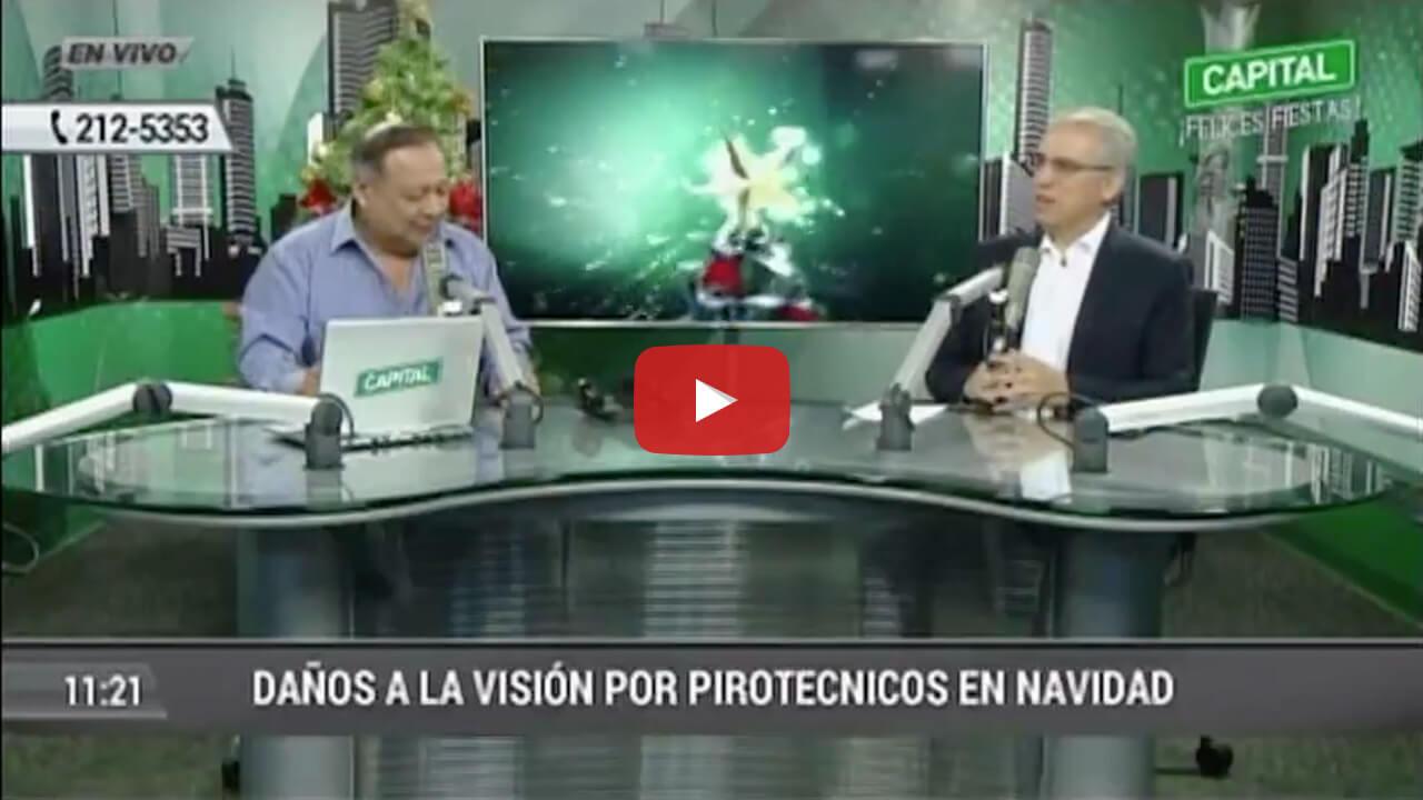 Daños a la visión por pirotécnicos en Navidad