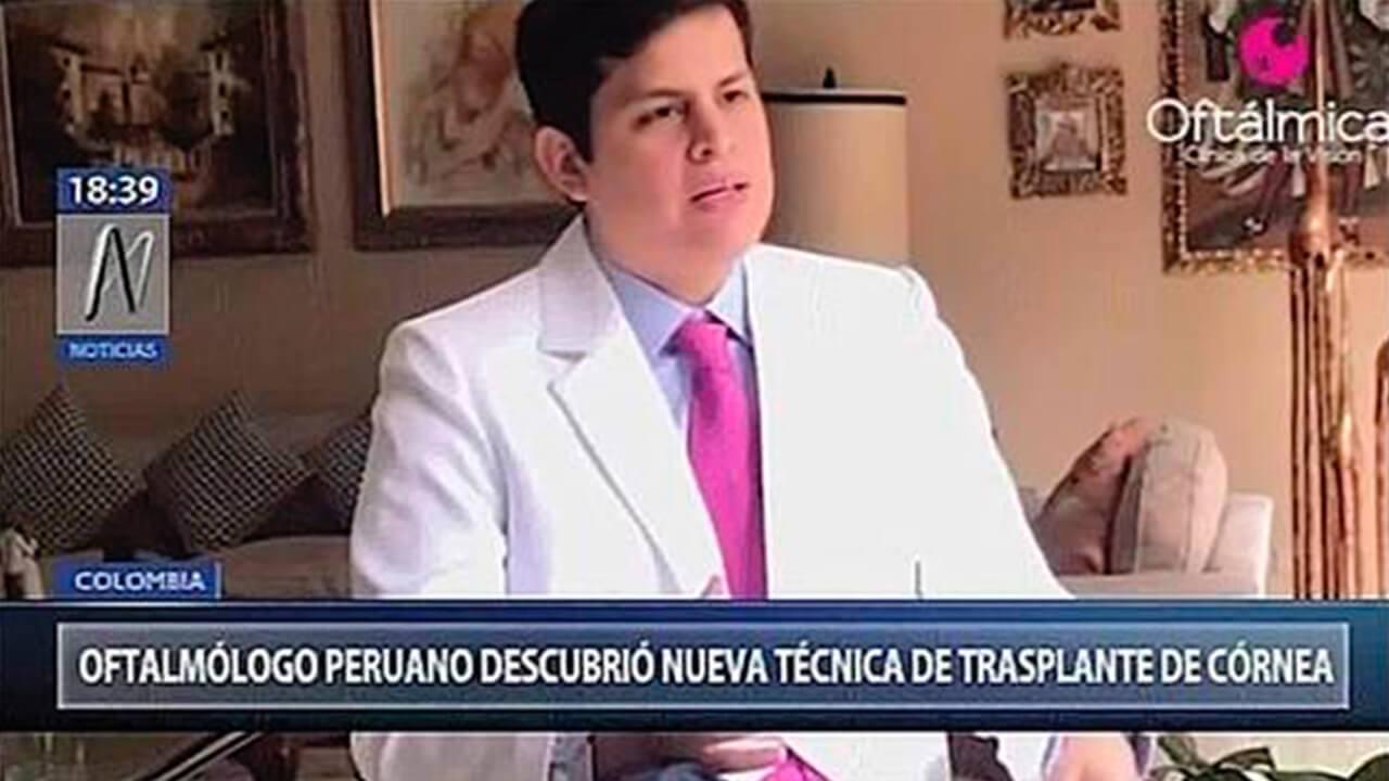 Oftalmólogo peruano descubrió técnica de trasplante de córnea