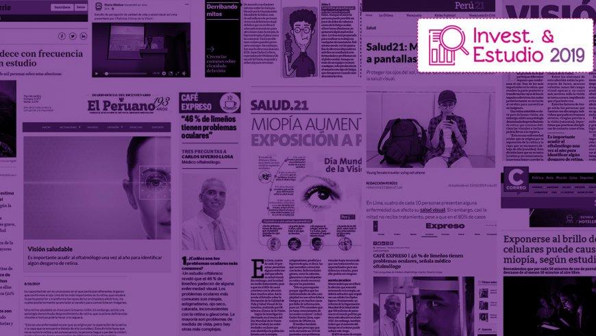 Importantes medios peruanos difunden nuestro Estudio de Percepción de Calidad de Vida y Salud Visual 2019.